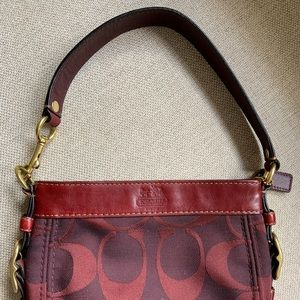 Adorable coach signature mini bag EUC